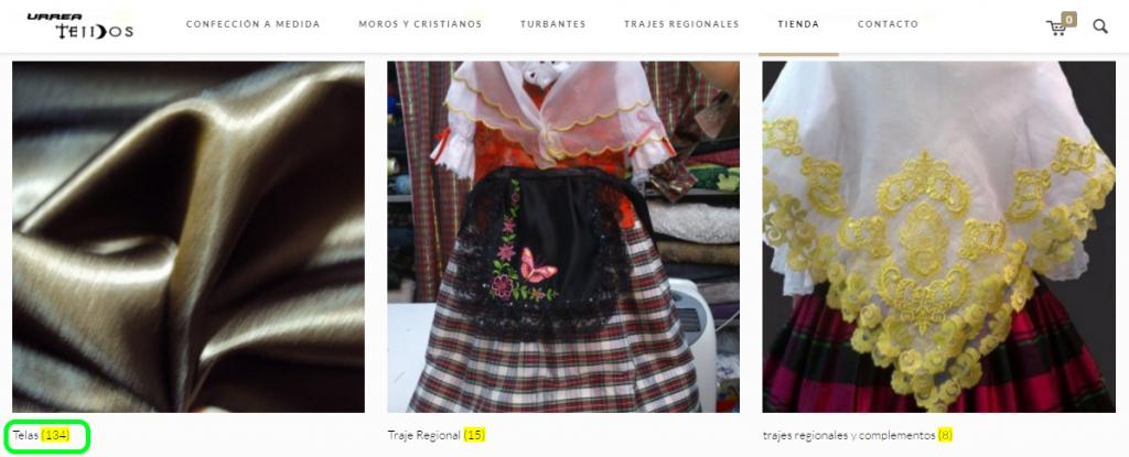 Tienda online Tejidos Urrea Villena Telas Complementos Moros y Cristianos