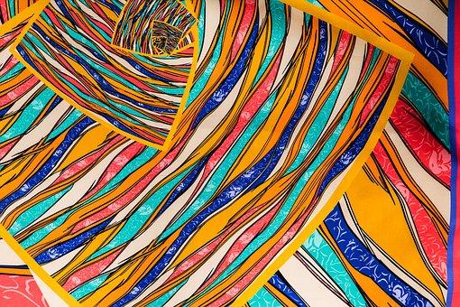 Tela estampada en colores vivos - Lavado en seco - Tejidos Urrea by Ana Olivares - Villena - Alicante