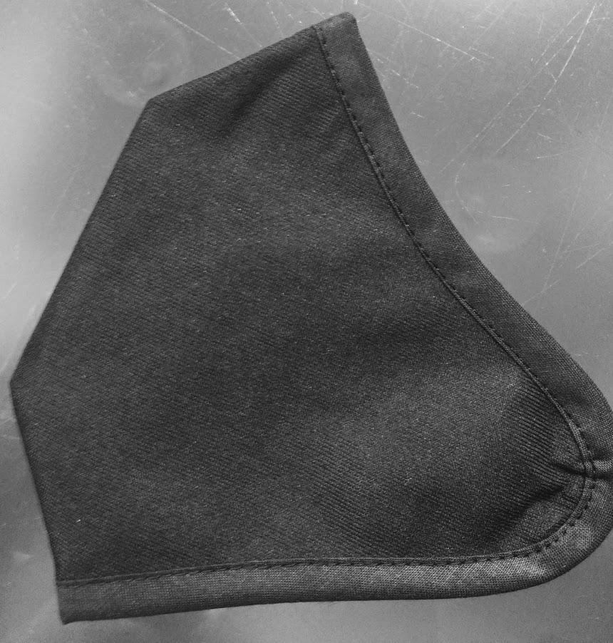 Mascarilla negra 2 capas
